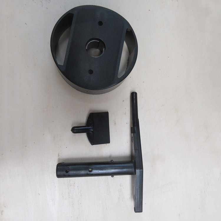Plastic Mold Parts Black Color With Independent Open Mold Capacity